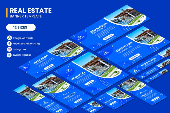 Thumbnail for Real Estate Google Adwords Banner Template