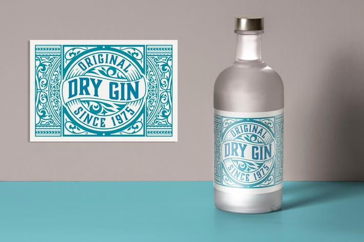 Vintage-Gin-Label-Lay