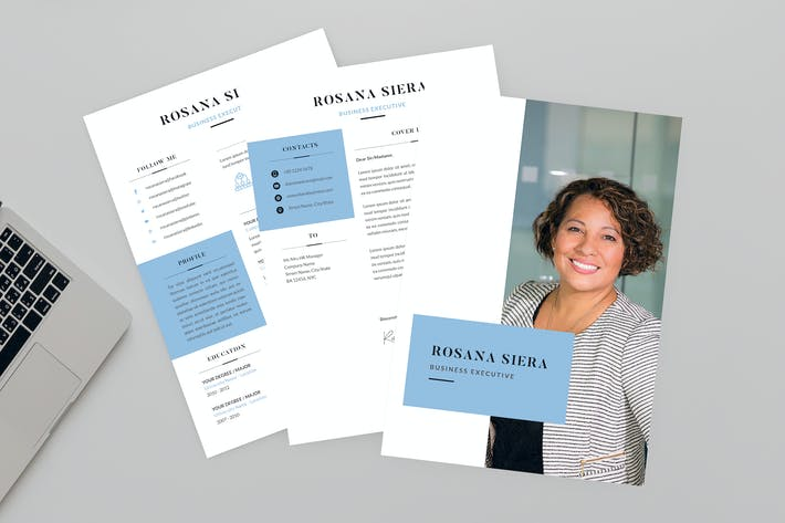 Thumbnail for Rosana Business Resume Designer