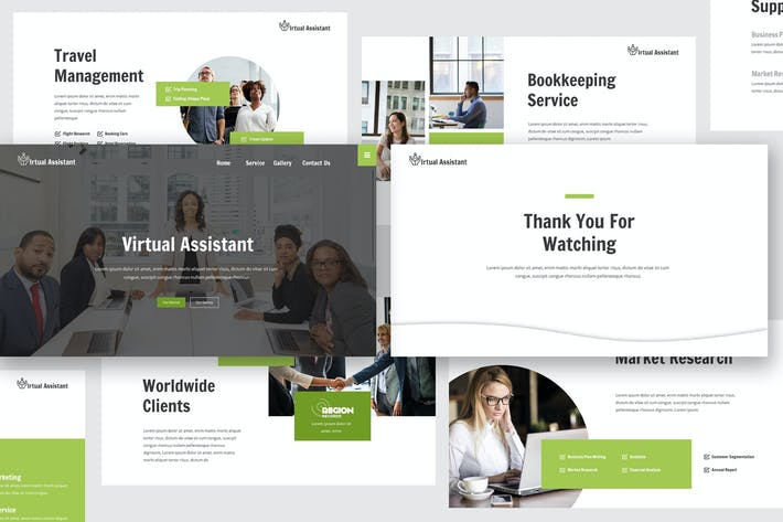 Thumbnail for Virtual Assistant Keynote Template