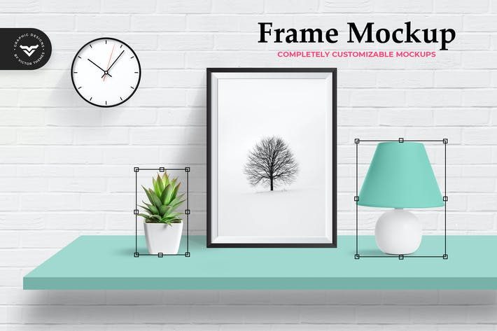 Thumbnail for Wall Photo Frame Mockup Template