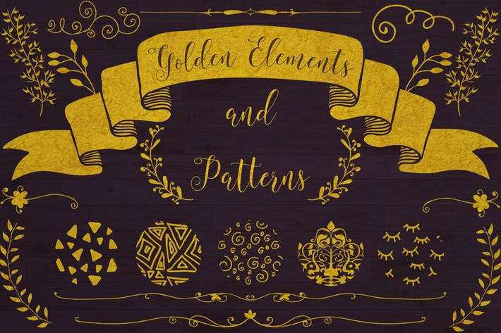Thumbnail for Golden Elements + 20 Patterns