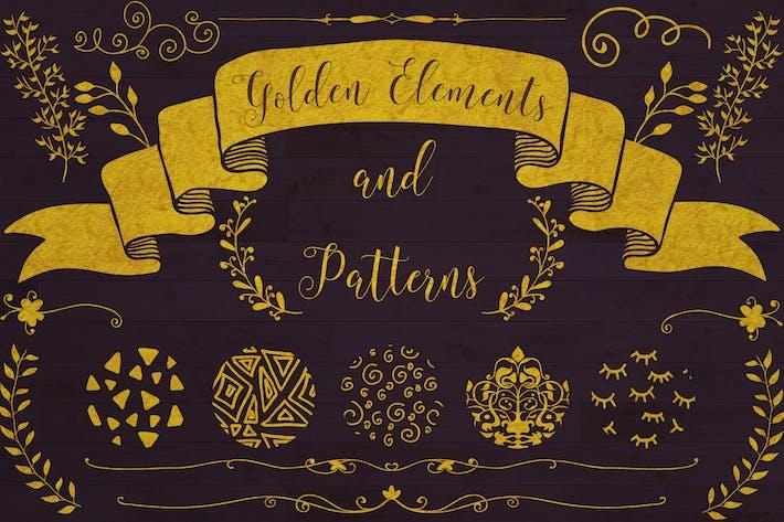 Thumbnail for Elementos dorados + 20 Patrones