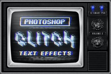 Photoshop Glitch Text Effects Vol. II