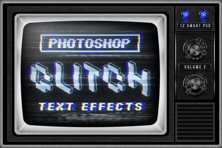 Thumbnail for Photoshop Glitch Text Effects Vol. II