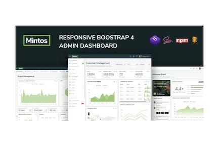 Mintos - Responsive Bootstrap 4 Admin Dashboard