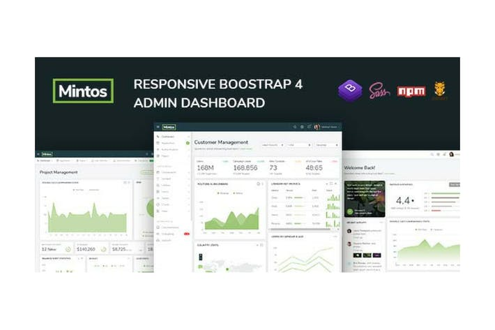 Thumbnail for Mintos - Responsive Bootstrap 4 Admin Dashboard
