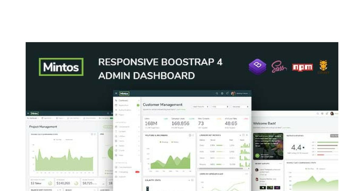 Download Mintos - Responsive Bootstrap 4 Admin Dashboard by Hencework