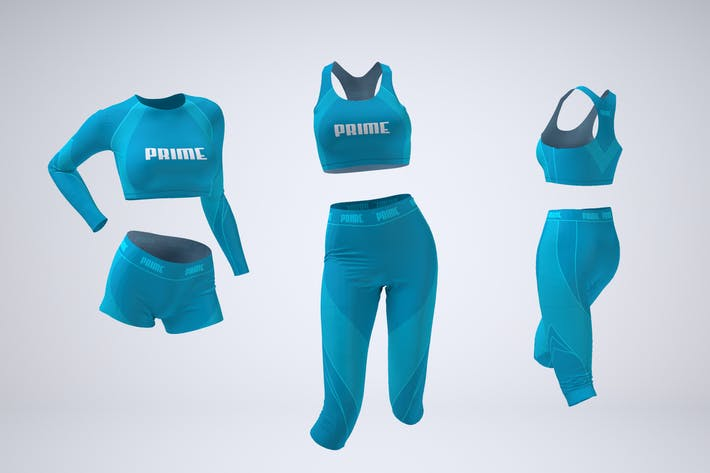 Dancewear or Activewear Mock-Up