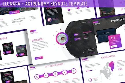 Elonara - Plantilla de Astronomía Keynote