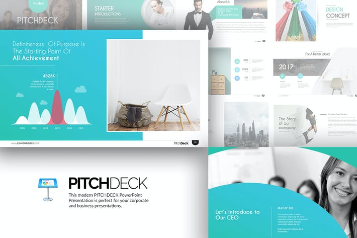 Thumbnail for Pitch Deck Keynote Templates
