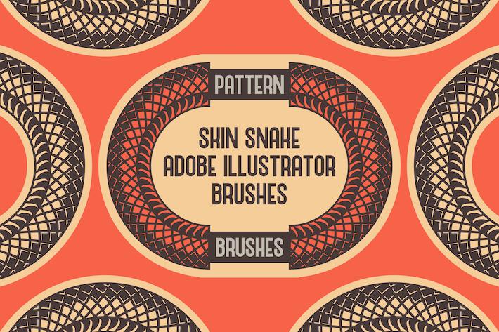 Thumbnail for Pinceles de diseño de serpiente de piel Adobe Illustrator