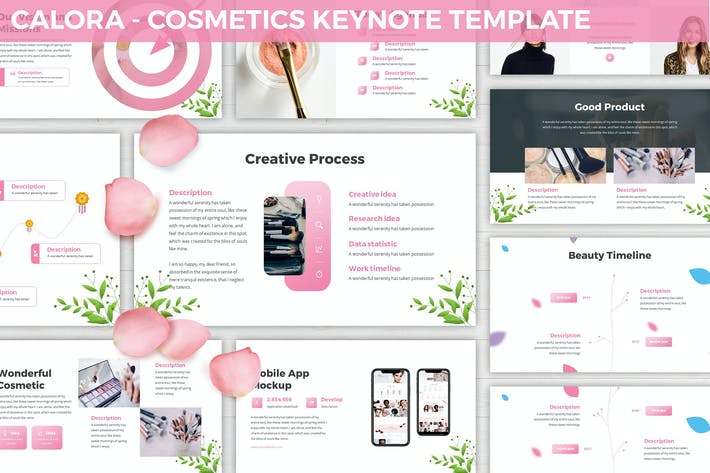 Thumbnail for Calora - Cosmetics Keynote Template