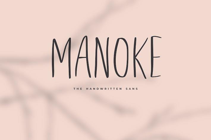 Thumbnail for Manoke - The Handwritten Sans