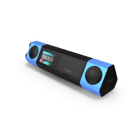 Tragbares Musiksystem blau