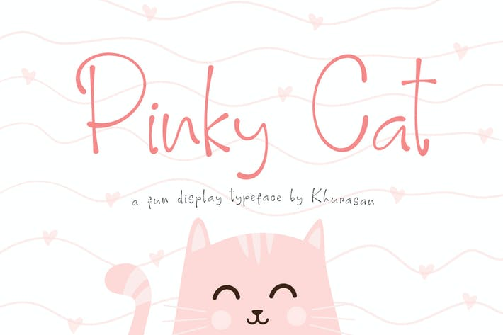 Thumbnail for Pinky Cat Font