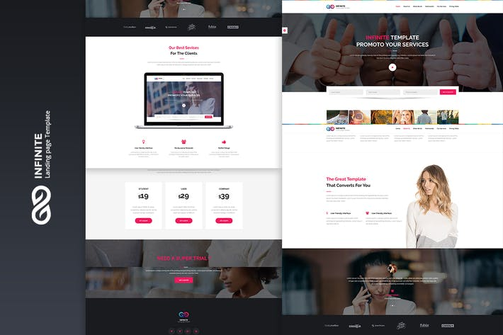 Thumbnail for Infinite - Digital Marketing Landing Page