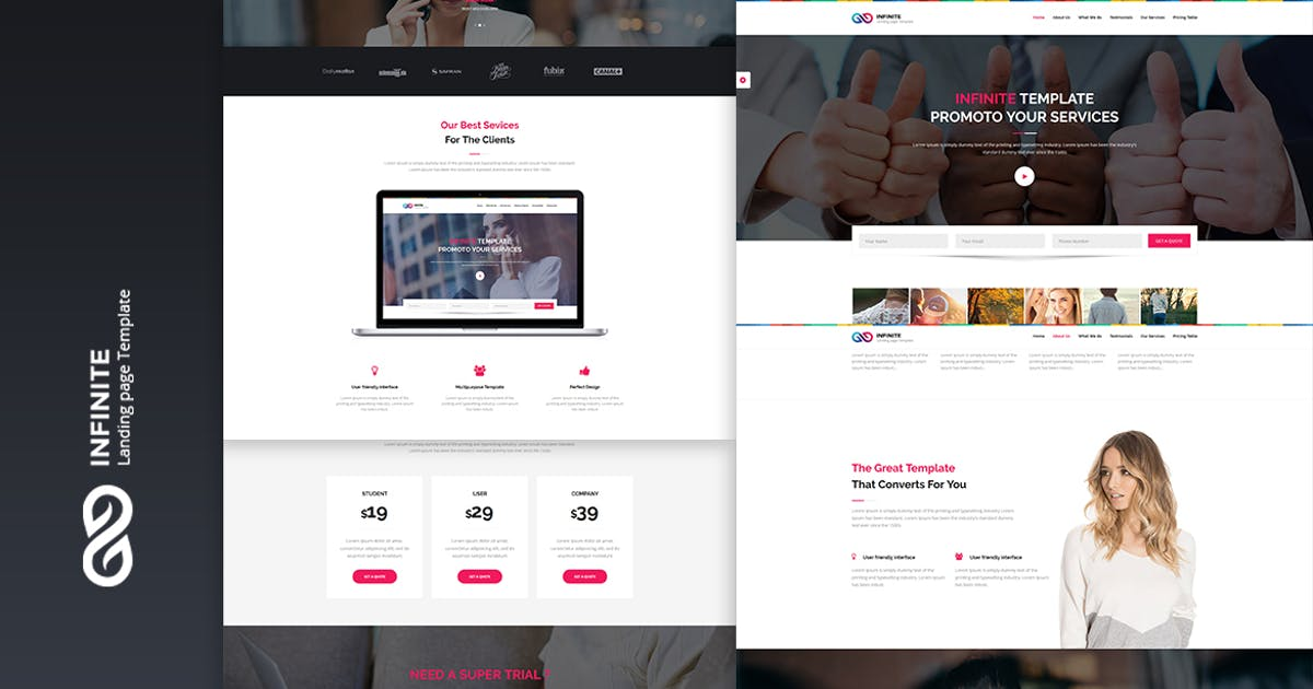 Download Infinite - Digital Marketing Landing Page by htmlbeans