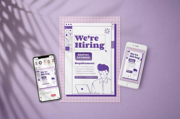 Thumbnail for Graphic Designer -  Open Recruitment Flyer Kit