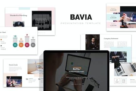 Bavia : Business Progress Report Google Slides
