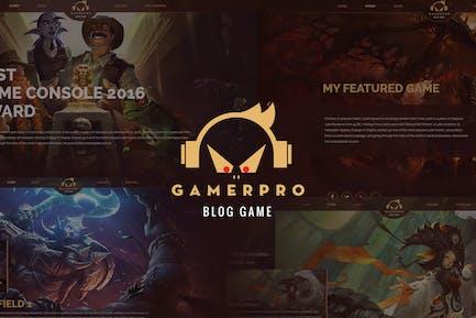GAMERPRO - Fantastic Blog PSD Template