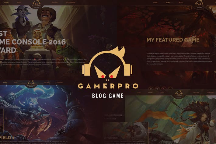 Thumbnail for GAMERPRO - Fantastic Blog PSD Template