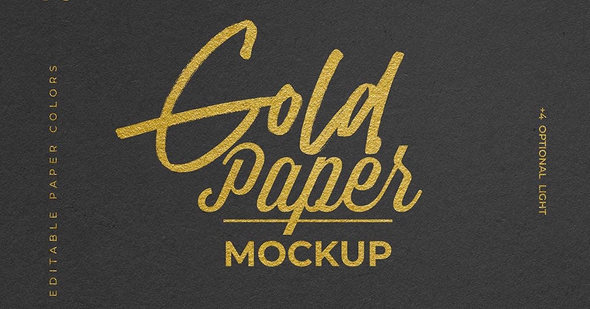 Download Gold Foil Paper Logo Mockup by sagesmask