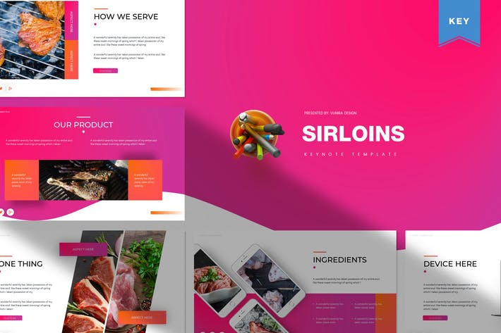 Cover Image For Sirloins | Keynote Template