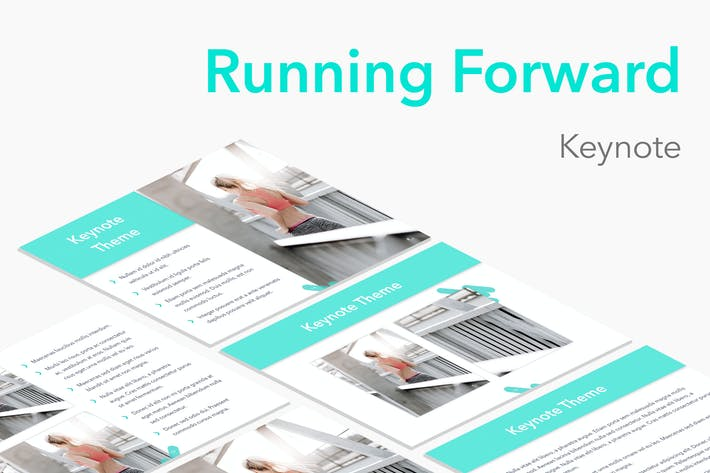 Thumbnail for Running Forward Keynote Theme