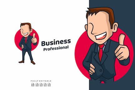 Businessman Professional Cartoon Young  Mascot