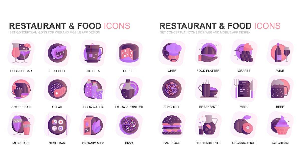 Download Modern Set Gradient Flat Icons by alexdndz