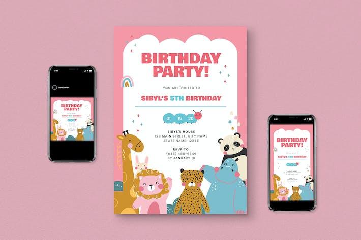 Thumbnail for Kids Birthday Flyer Pack