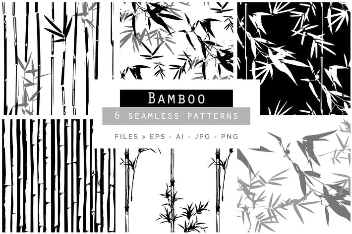 Thumbnail for Bamboo Seamless Vector Patterns