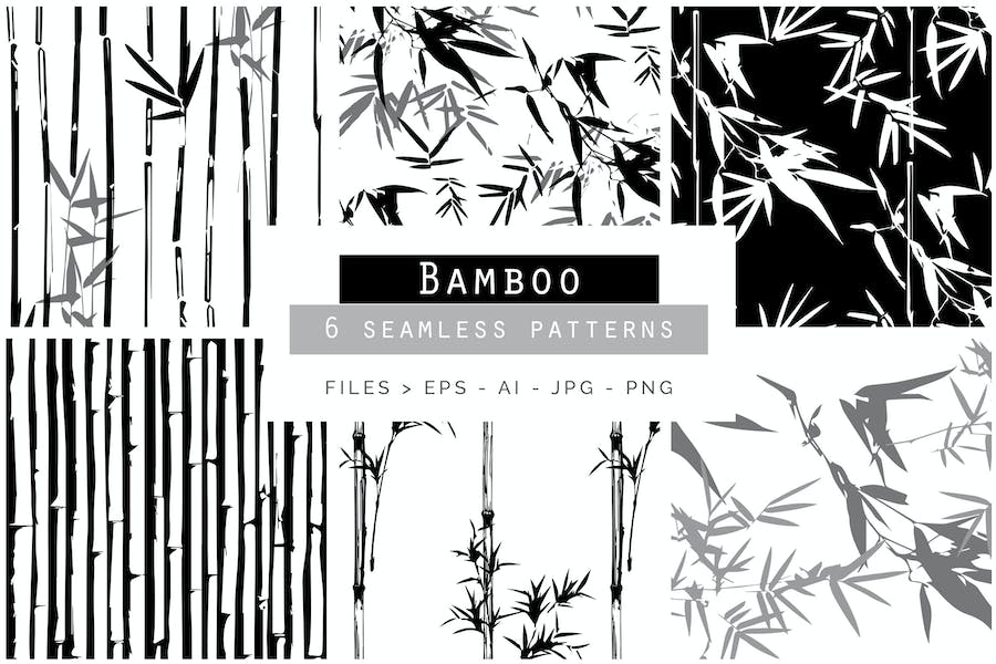 Bamboo Seamless Vector Patterns