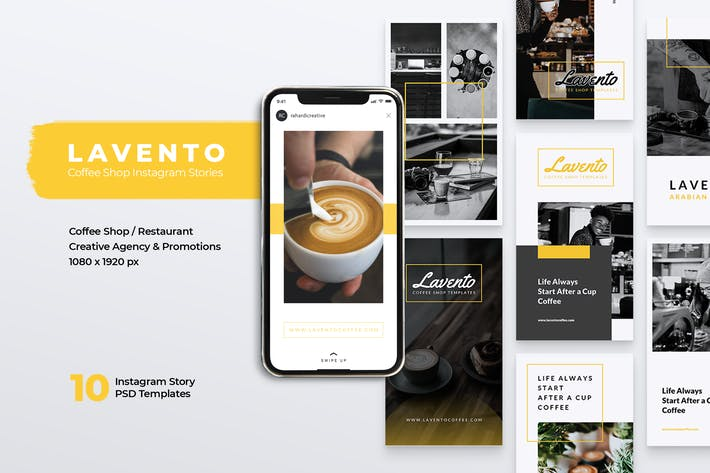 Thumbnail for LAVENTO Coffee Shop Instagram Stories