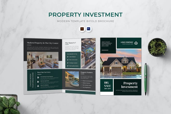 Property Investment Bifold Brochure
