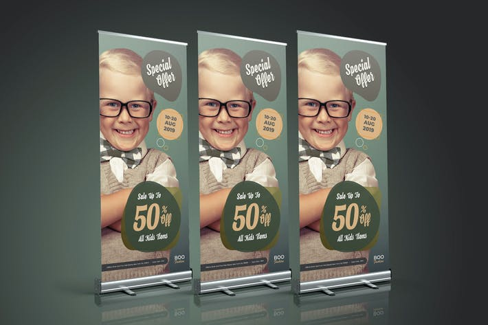 Thumbnail for Fashion Sale Roll Up Banner 03