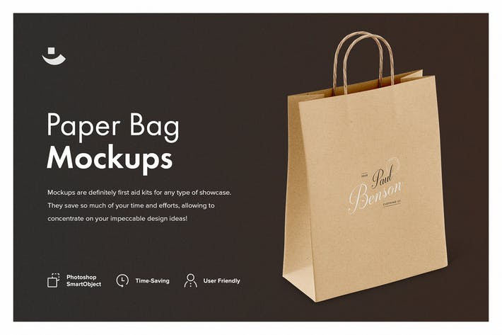 Cover Image For Paper Bag Mockup Set