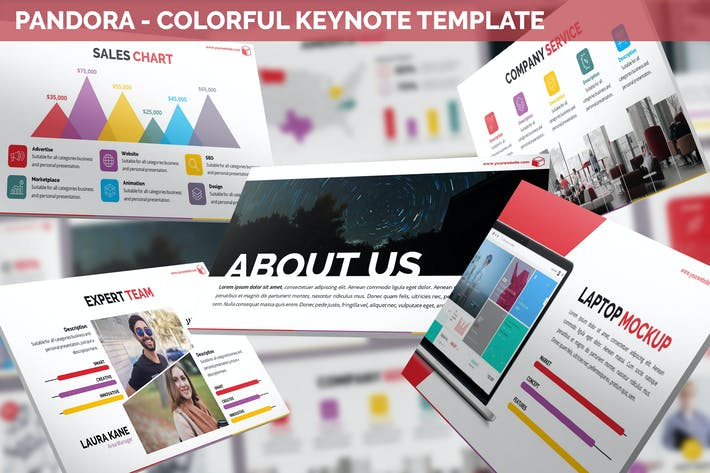 Thumbnail for Pandora - Colorful Keynote Template