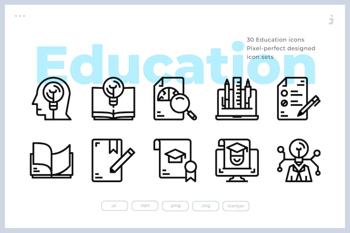 Thumbnail for 30 Education Icons