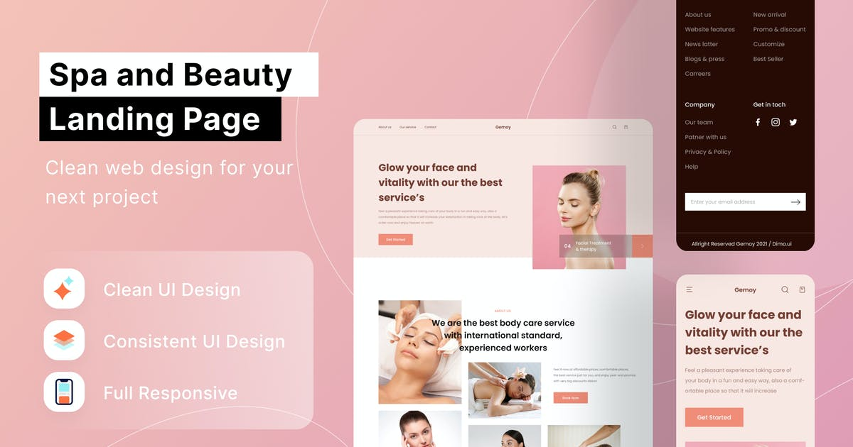 Download Spa & Beauty Landing Page by DimoGraphic