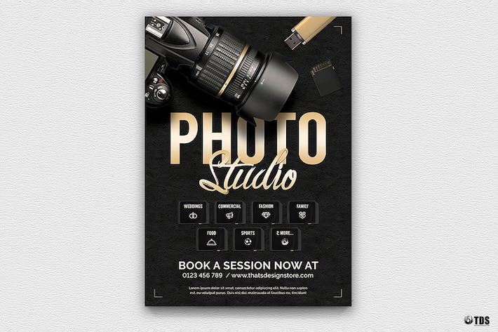 Thumbnail for Photo Studio Flyer Template V1