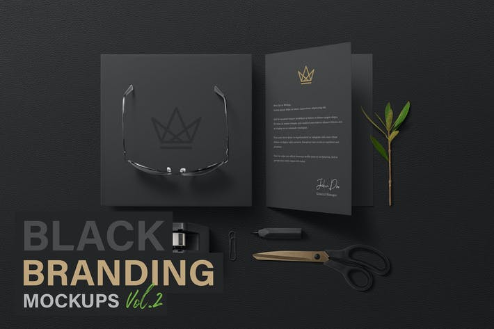Thumbnail for Black Branding Mockups Vol.2