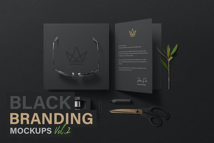 Thumbnail for Black Branding Mockups Vol.2