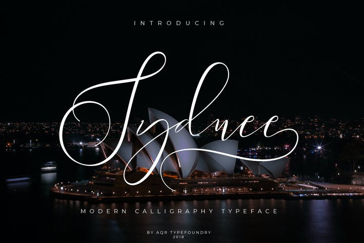 Thumbnail for Sydnee Modern Calligraphy Font