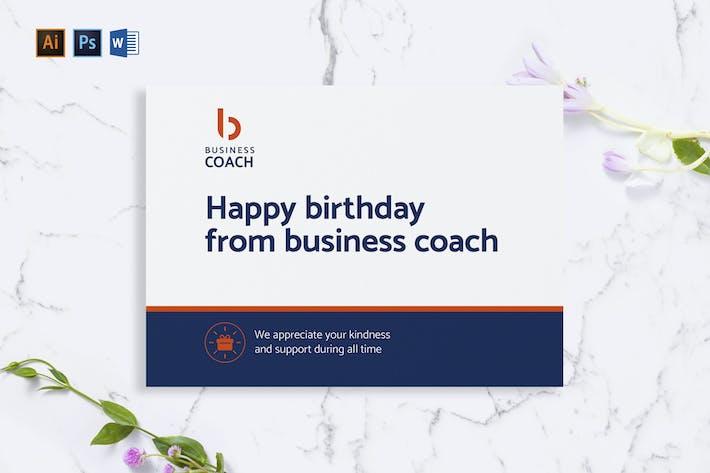 Thumbnail for Carte de vœux Business Coach