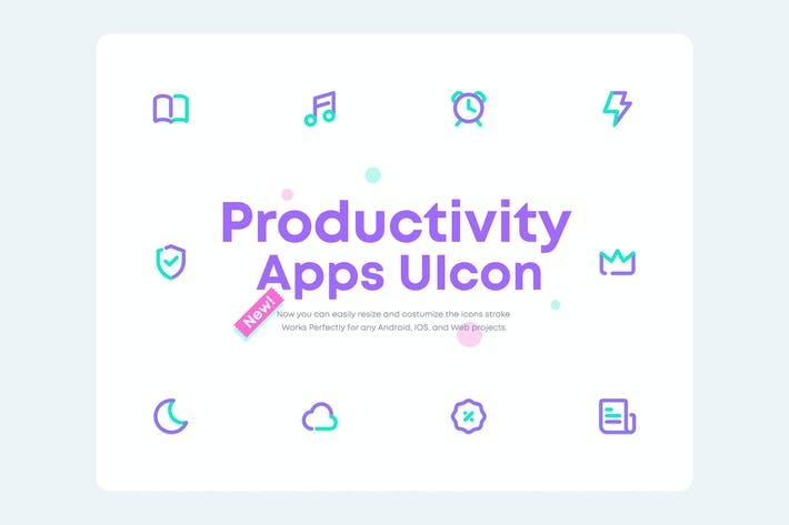 Thumbnail for UICONS 2.0 -  Productivity Mobile Apps Icon