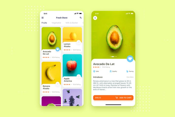 Thumbnail for Concept d'interface utilisateur mobile Fruit Shop