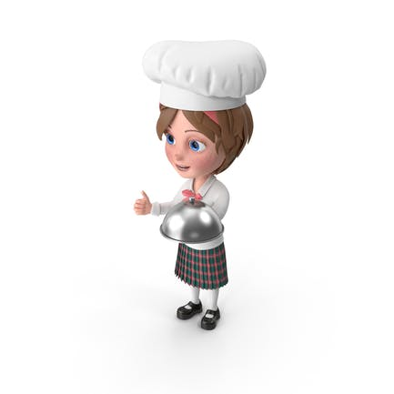 Cartoon Girl Meghan Chef
