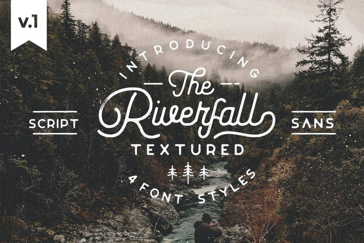Thumbnail for Riverfall Rounded Textured Typeface